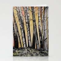 Row of Trees Stationery Cards