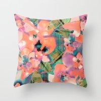 Tropicallista Peach Throw Pillow