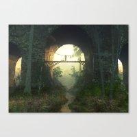 The Bridge Under The Bri… Canvas Print
