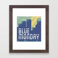 Blue Monday Framed Art Print