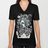 Girl in Bird Unisex V-Neck