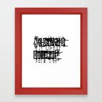 me debo ir o quedarme Framed Art Print