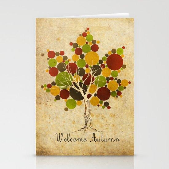 Leafy Stationery Card