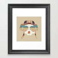 Retro Aviator Framed Art Print