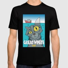 Great White Cat SMALL Black Mens Fitted Tee