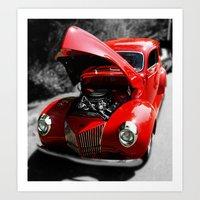 Hot Rod Red Art Print