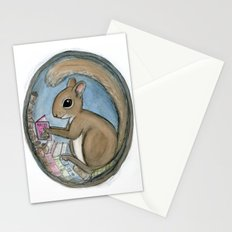 Sherman Squirrel Reads a Tale Stationery Cards