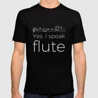 Speak flute? Mens Fitted Tee Black SMALL