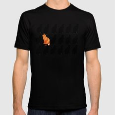 ODD CAT OUT Mens Fitted Tee Black SMALL