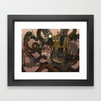 Eight Headed Demon Framed Art Print