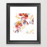Abstract WWater Colour Framed Art Print