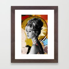 Golden Brigitte Bardot  By Zabu Stewart Framed Art Print