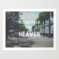 Boardwalk to Heaven Art Print