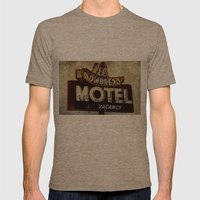 Vintage El Sombrero Motel Sign Mens Fitted Tee Tri-Coffee SMALL