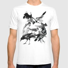 A Volery of Birds White SMALL Mens Fitted Tee