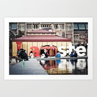Tourists  Art Print