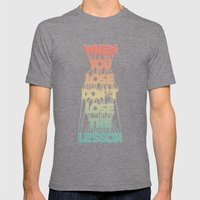 Life Lesson # 2 Mens Fitted Tee Tri-Grey SMALL