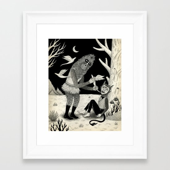 Thievery in the Woods Framed Art Print