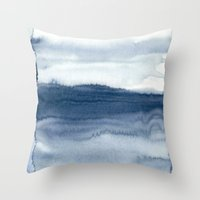 indigo shibori 04 Throw Pillow