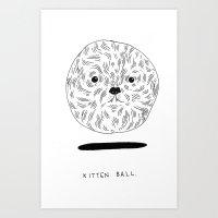 Kitten Ball Art Print