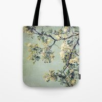 Vintage Honey Locust Tree in Bloom Spring Botanical Tote Bag