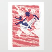 The Leap Art Print