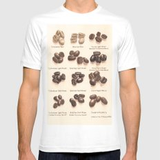 Coffee Mens Fitted Tee SMALL White