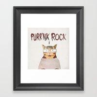 PURR'NK ROCK Framed Art Print
