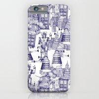 Doctor Who Toile de Jouy | 'Walking Doodle' | Blue iPhone 6 Slim Case