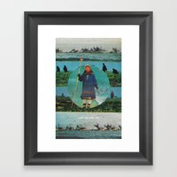 Watch Me While I Die Framed Art Print