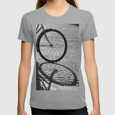 Bicycle Womens Fitted Tee Tri-Grey SMALL