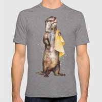 otter Mens Fitted Tee Tri-Grey SMALL