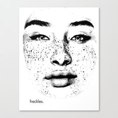 freckles. Canvas Print