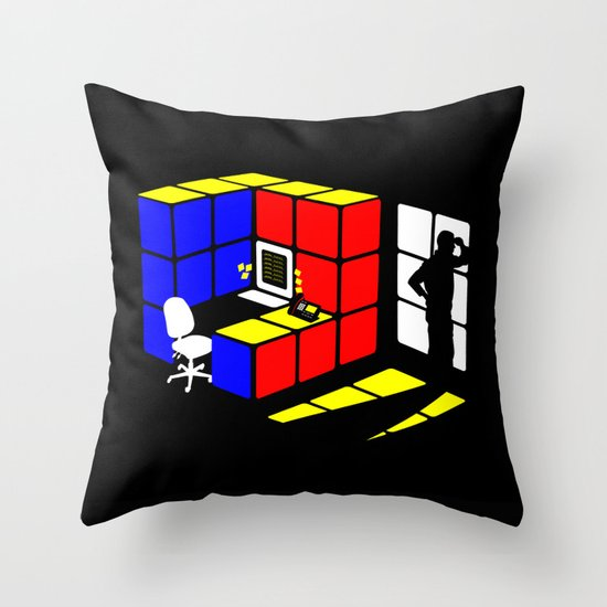 Rubix Cubicle Throw Pillow