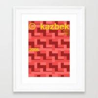 kazbek single hop Framed Art Print