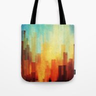 Urban Sunset Tote Bag