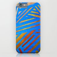 Geometric Blue iPhone 6 Slim Case