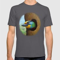 Beautiful Bird Mens Fitted Tee Asphalt SMALL