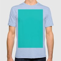 (Tiffany Blue) Mens Fitted Tee Tri-Blue SMALL