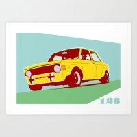 Fiat 128 Art Print