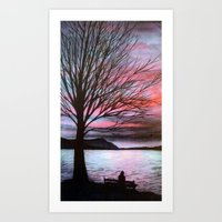 Boulevard Sunset Art Print
