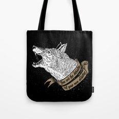 Wolf Protector (Black N … Tote Bag
