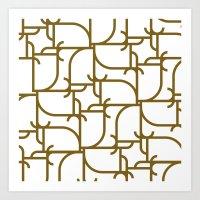 A Geometric Pattern Art Print