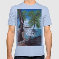 Relaxation Mens Fitted Tee Athletic Blue SMALL