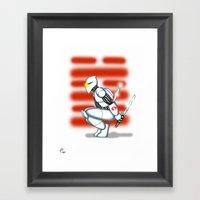 Robot Series - Storm Sha… Framed Art Print