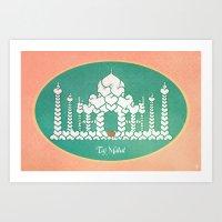 Taj Mahal is Love Art Print