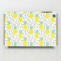 Pineapple fun modern minimal scandi design fresh fruit tropical island summer beach socal vegan iPad Case
