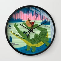 The Alligator And The Ar… Wall Clock