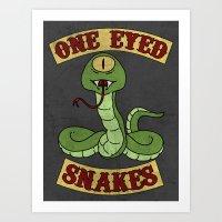 One Eyed Snakes Art Print