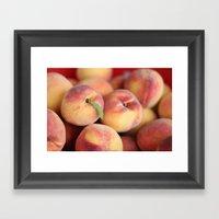 Peaches.  Framed Art Print